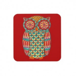 image via Zazzle http://www.zazzle.com/owl+coasters
