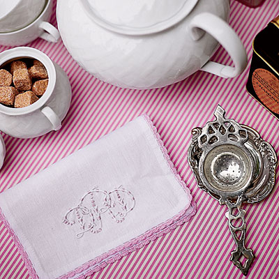 Special touches for afternoon tea via Southern Living