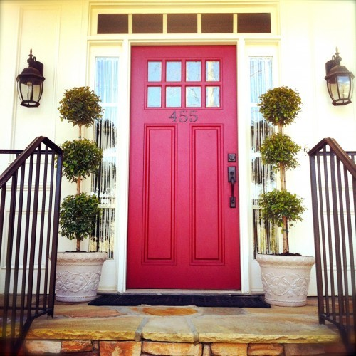 Red Front Door: Red-Door-front-door-color-ideas