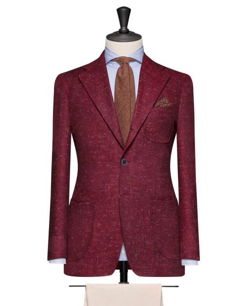 Men's Business Attire: Dark Red Jacket