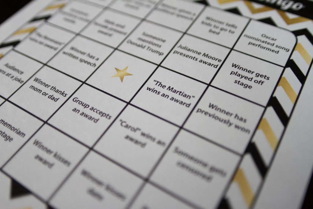 Oscar Bingo courtesy of Anchor Printables