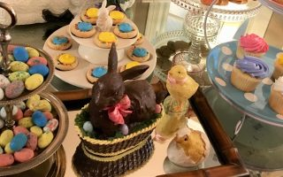 Easter etiquette archives diane gottsman etiquette expert easter entertaining with cake stands and serving trays negle Choice Image