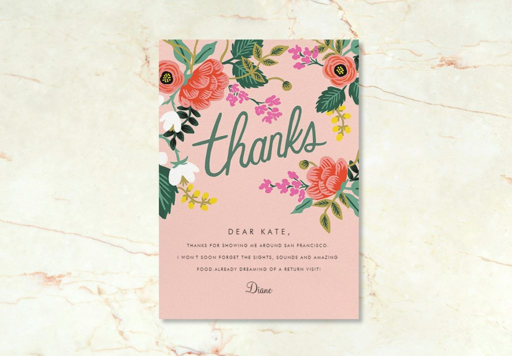Thank You Note: Paperless Post