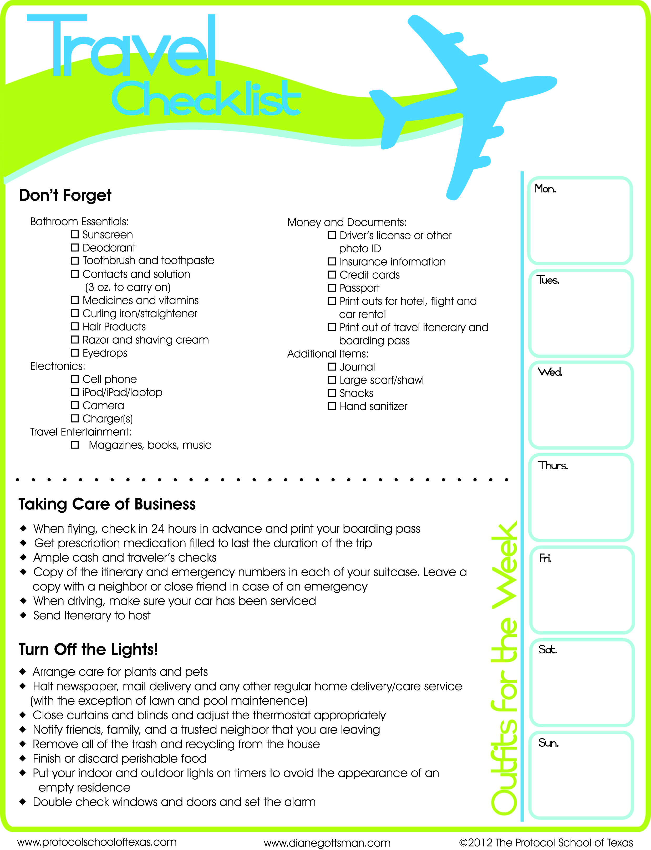 travel checklist elita aisushi co